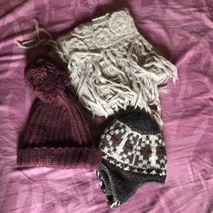 Winter hats and long wool scarf!